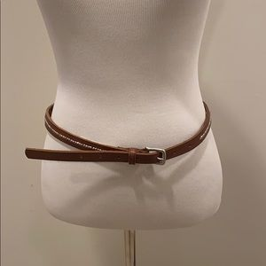 Skinny Belt with beaded detail